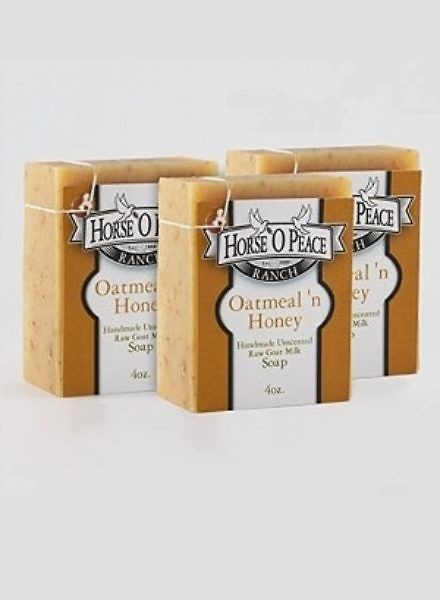 oatmeal raw goat milk and honey Soap